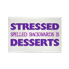 Stressed Desserts Rectangle Magnet