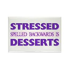 Stressed Desserts Rectangle Magnet