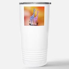 Blue and Purple Giraffe Travel Mug