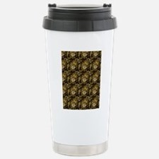 Gold and Brown Paisley Stainless Steel Travel Mug