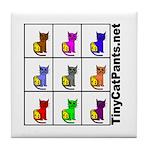 Tiny Cat Pants Tile Coaster