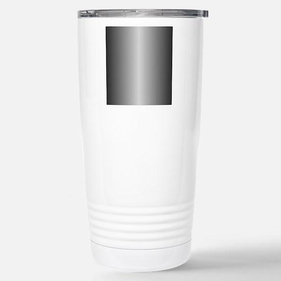 Grey Metallic Shiny Stainless Steel Travel Mug