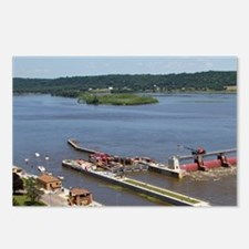 IA, Dubuque, Lock and Dam Postcards (Package of 8)