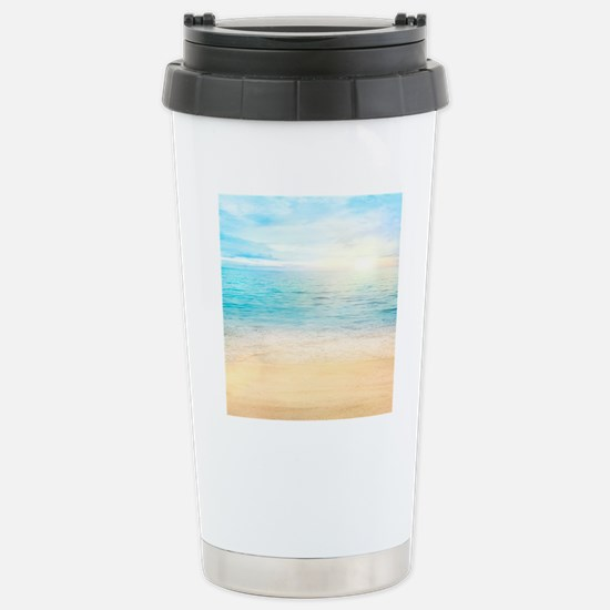 Beautiful Beach Stainless Steel Travel Mug