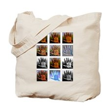Left hand icons Tote Bag