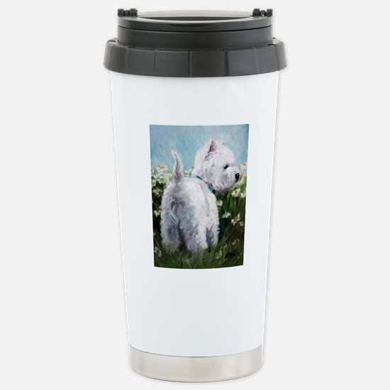 Picking Daisies Stainless Steel Travel Mug