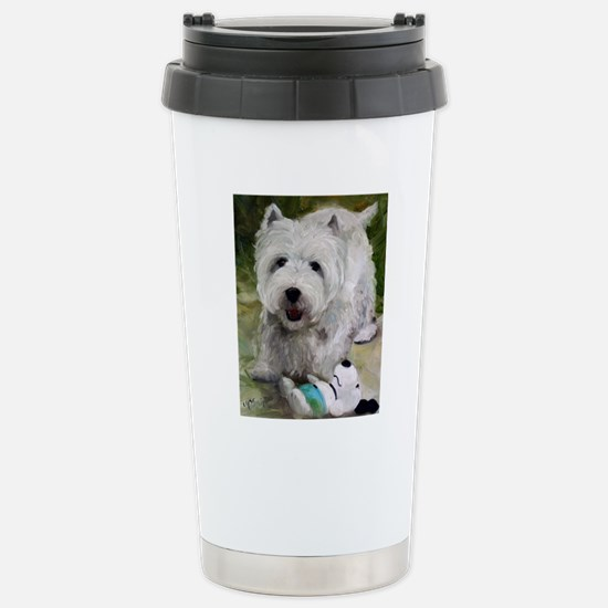 Guarding Snoopy Stainless Steel Travel Mug