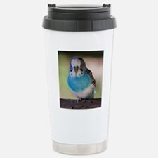 Blue Budgie Stainless Steel Travel Mug