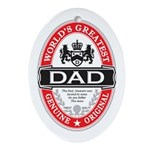 World's Greatest Dad Oval Ornament
