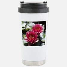 Red Lotus Flower Stainless Steel Travel Mug