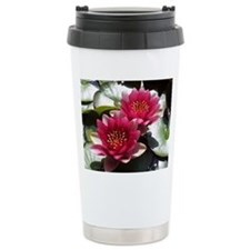 Red Lotus Flower Travel Mug