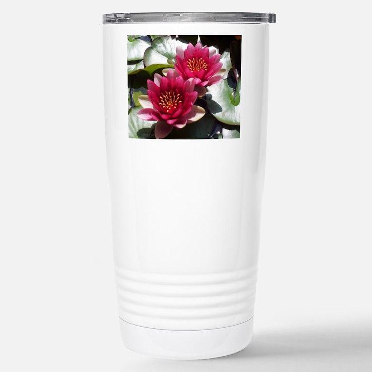 Red Lotus Flower Travel Mug