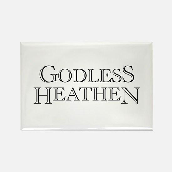 Godless Heathen Rectangle Magnet (10 pack)