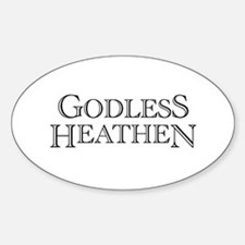 Godless Heathen Oval Decal