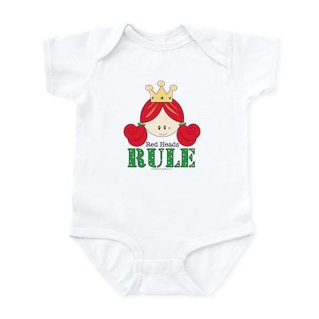 Red Heads Rule White Infant Bodysuit Onesie