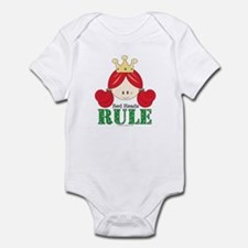 Red Heads Rule White Infant Bodysuit Onesie
