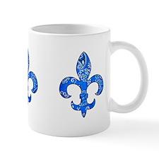 Fleur de lis Blue Bandana Mug