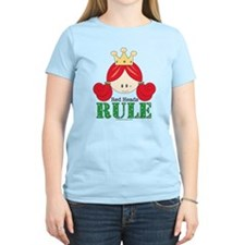 Red Heads Rule Pink T-Shirt