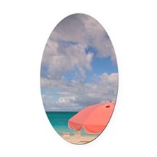 Grace Bay: Beach Chairs / Grace Ba Oval Car Magnet