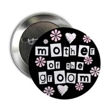 Mother of Groom (black) Button