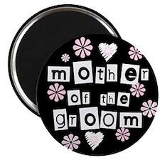 Mother of Groom (black) Magnet