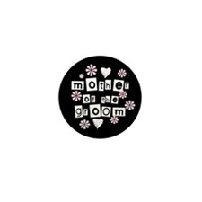 Mother of Groom (black) Mini Button