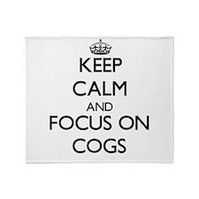 Cute Keep calm and carry on Throw Blanket
