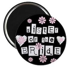 Sister of Bride (black) Magnet