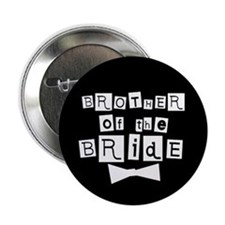 Brother of Bride(black) Button