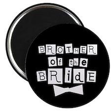 Brother of Bride(black) Magnet