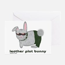 Leather Plot Bunny Greeting Cards
