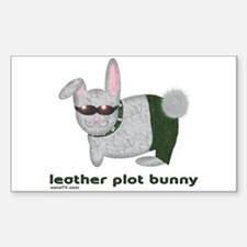 Leather Plot Bunny Decal