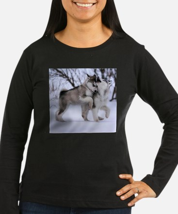 Wolves Playing Long Sleeve T-Shirt