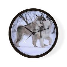 Cute Wolf Wall Clock