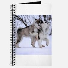 Cute Winter wolf Journal