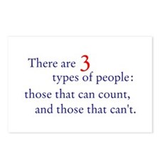 3 Types of People Postcards (Package of 8)