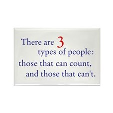 3 Types of People Rectangle Magnet