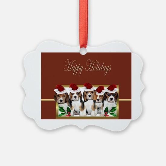 Holiday Beagles Ornament