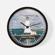 Ludington North Breakwater Light Wall Clock