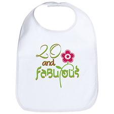 20th Bithday - 20 and Fabulous Bib