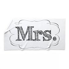 mrs.png Beach Towel