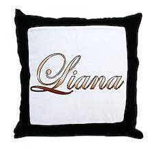 Gold Liana Throw Pillow