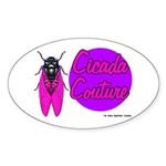Cicada Couture P07 Oval Sticker