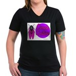 Cicada Couture P07 Women's V-Neck Dark T-Shirt