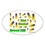What Cicada Oval Sticker