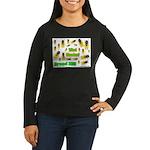 What Cicada Women's Long Sleeve Dark T-Shirt