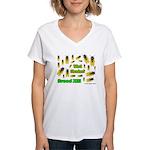What Cicada Women's V-Neck T-Shirt