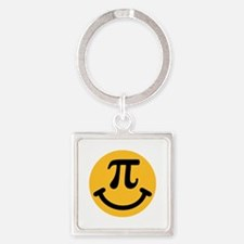 Pi Smiley Square Keychain