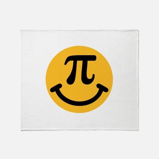 Pi Smiley Throw Blanket