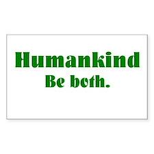 Human Kind Rectangle Decal